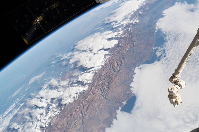 The Andes Mountain Range as seen from Space