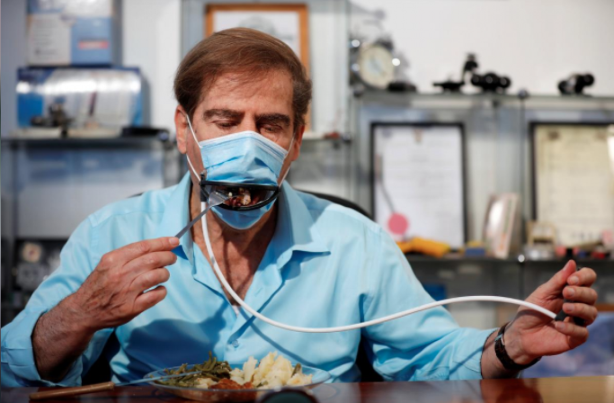 Israeli Eating Mask: You Can Soon Eat While Wearing A Mask