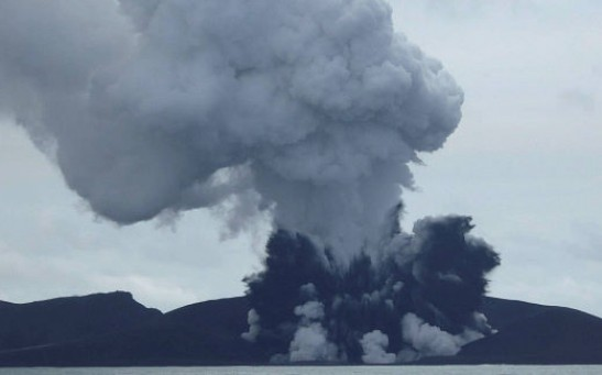Volcano Creates Island