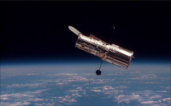 The Hubble Space Telescope Above Earth