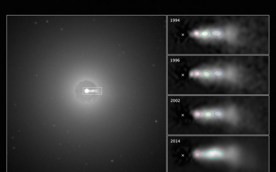 Hubble Video Shows Shock Collision inside Black Hole Jet